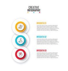 Creative concept for infographic circles with 3 vector Circle Infographic, Creative Infographic, Infographic Templates, Free Vector Images, Vector Free, Circle Arrow, Circle Diagram, Process Chart, Computer Vector