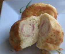 Pan chino relleno de bacon y queso