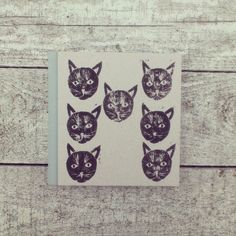 Cat notebook, linocut.