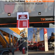 We send you the good news!The opening day of the show was accounted a success. Truemax concrete pump(Model:TM90HD-20)and mobile concrete batching plant(Model:CBP60M) already been sold! Welcome to join Truemax!Activities the scene, where exquisite little gift! Booth No:Outdoor A10 /Time:9:00am~17:00pm/Add:Shanghai new international exhibition center
