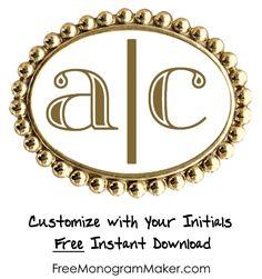 Free online monogram generator monogram maker pinterest free monogram maker spiritdancerdesigns Choice Image