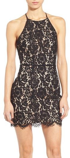 On SALE at OFF! lace open back minidress by ASTR. Prepare to turn heads in a figure-flaunting minidress cut from romantic floral lace and finished with a dramatic open. Lace Sheath Dress, Lace Dresses, Junior Dresses, Nordstrom Dresses, Festival Fashion, Stylish Outfits, Dress Skirt, Clothes For Women, How To Wear