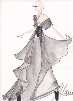 fashion designer sketches black and white - Google Search