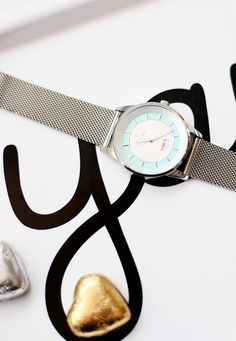 """The Azure Niben watch from TRIWA is gorgeous. Also photographed aboive is """"yay"""" tray from Buddy + Bear and triangle tray from Design Letters.  http://www.reidunbeate.com/2015/12/27/azure-niben-for-litt-hverdagsglamour/"""