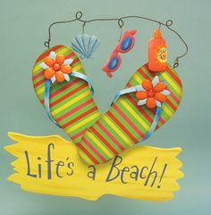 A few days ago Misty wrote an article about creative summertime flip-flops. Just like Misty, I love flip-flops. I have at least a dozen pairs and I wear Beach Crafts, Summer Crafts, Summer Fun, Diy Crafts, Summer Ideas, Flip Flop Craft, Decorating Flip Flops, Craft Projects, Projects To Try