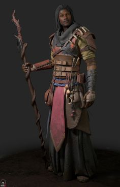 m Druid Leather Armor Staff Underdark story ArtStation Kasmir by Alex Cashmore lg Dungeons And Dragons Art, Dungeons And Dragons Characters, Dnd Characters, Fantasy Characters, Fantasy Male, Fantasy Rpg, Medieval Fantasy, Character Creation, Character Concept