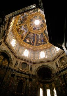 A view of the interior of the Chapel of the Princes in San Lorenzo Basilica. The massive structure, which is the mausoleum of the powerful Medici family, was erected between 1604 and 1643 by Matteo Nigetti. (Richard Bryant / Corbis)