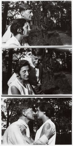 Josef and Anni Albers on the grounds of the masters' houses at the Bauhaus in Dessau, ca. 1925.