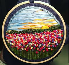 Hand Embroidery Flowers, Hand Embroidery Tutorial, Hand Embroidery Stitches, Embroidery Hoop Art, Hand Embroidery Designs, Embroidery Techniques, Ribbon Embroidery, Brush Embroidery, Thread Painting