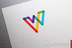 Abstract Letter W Logo Templates **Awesome Logo Design Template** you can use this logo for any business.This design has **EXTENDED by nospacestore Abstract Logo, Geometric Logo, Logo Design Template, Logo Templates, Lettering Design, Branding Design, Branding Ideas, Logos Photography, Logos Vintage