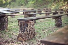 simple seating for an outdoor wedding! I love this! I hope my husband likes the outdoors :)