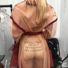 Backstage outfit 5 cheeky back view🍑✌🏻💃🏻 #gfw17 #gfw #graduatefashionweek #wearegraduatefashionweek #slogan #dmu #dmufashion #feminism