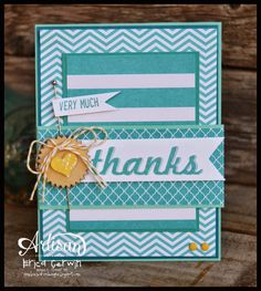 Fabulous Four Thanks also using a Project Life by Stampin' Up card! http://pinkbuckaroodesigns.blogspot.com/2014/06/fabulous-four-thanks.html