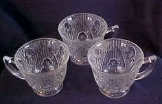 Pattern:   Iris Depression Glass is also known as Iris and Herringbone.  Manufacturer:   Jeannette Glass Company