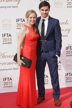 Colin O'Donoghue and his wife Helen Irish Film & Television Academy IFTA 24/05/2015 Captain Hook Killian Jones Once Upon A Time If you take place like thanks Miriam