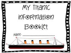 I Survived The Sinking Of The Titanic Literacy Unit PlansTests