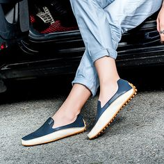 US Size 6.5-11.5 Men Shoes Outdoor Casual Round Toe Slip On Breathable Flats - US$41.99