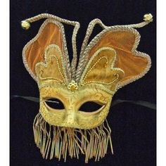 Low on stock: Venetian Mask Masquerade Angel Wings Orange Mardi Gras Halloween Costume #mask #venetian #amazon