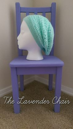 Spring Flower Slouch free crochet pattern - The Lavender Chair