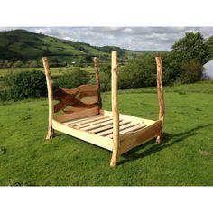 Driftwood Bed, driftwood bed frame, Beech bed frame