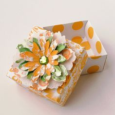 Elegant Handmade Paper FLOWER Decorated ORIGAMI by photomamaregina