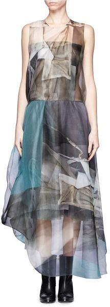 Acne Printed Layered Dress - Lyst