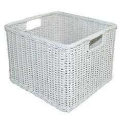 Rattan Milk Crate Large White - Pillowfort™