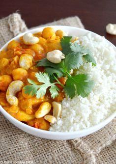 Curry de pois chiches vegan et riz de chou-fleur (sans gluten)