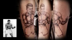 Mohamed Ali Tattoo Portrait #tattoos #killerink #coverup #blackandgrey #sleeve #unique #art #amazingink #tattooartist #tattooist #tattooer #artistattoos #bright_and_bold #uk #blacktattooart #ink #tattooflash #tattooed #tattoo #blackink #artist #personaltattoos #tattoosleeve #tattooportrait  #superb_tattoo