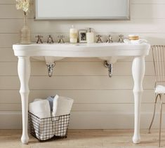 Get a Parisian Pedestal Double Sink from Pottery Barn. It consists of two main sink, suitable for. Pedestal Sink Bathroom, Vanity Sink, Bathroom Vanities, Bad Inspiration, Bathroom Inspiration, Upstairs Bathrooms, Small Bathroom, Barn Bathroom, Rental Bathroom