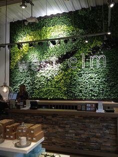 """Using a green Wall behind your stage could add focus and dimension to your space. White writing """"game changers"""" or """"CSA Conference""""."""