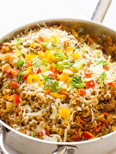 Taco rice skillets- this is the easiest recipe for spicy taco rice bowls! Taco rice skillets- this is the easiest recipe for spicy taco rice bowls! Rice Recipes, Casserole Recipes, Mexican Food Recipes, Cooking Recipes, Healthy Recipes, Taco Casserole, Skillet Recipes, Freezer Recipes, Ground Beef