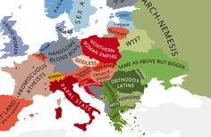 These Hilariously Rude Maps Show Europe According to Europeans