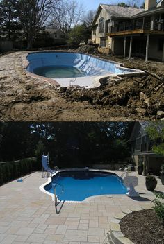 TOTAL REMODEL OF A 23×48 POOL AND SPA