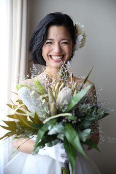 短め髪でも華やかに。ショート・ボブヘアのとびきり可愛い花嫁ヘアスタイル / ヘアスタイル まとめ記事 / WEDDING | ARCH DAYS