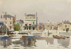 Edward Seago   Richmond River Scene