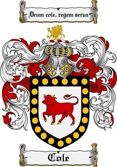 Cole Coat of Arms Cole Family Crest Instant Download