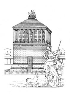 Helpful for memory work with Claritas Classical Academy Cycle 1 History http://claritasclassicalacademy.com/Curriculum.html Mausoleum Of Maussollos At Halicarnassus.  Week 28 of Claritas Classical Academy.