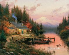 Thomas Kinkade - A Lifetime of Light  The End of a Perfect Day 1993