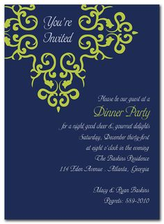 Perfect wedding invite once you decide navy vs. peacock