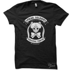 Badass Sailer Moon anime skull T-shirt