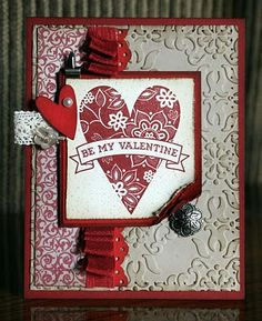 Stampin' Up!  Be My Valentine  Krystal De Leeuw