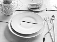 Ceramista Robert Siegel e do artista Aaron Hawks uniram forças para criar um original, coleção de edição limitada de objetos artesanais, feitos de porcelana fina.