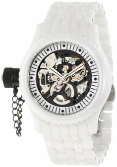 Invicta Women's 1900 Russian Diver Mechanical Black Skeleton Dial Watch Invicta. $1495.00. Water-resistant to 50 M (165 feet). Precise mechanical movement. Silver tone second hand. Black skeletonized dial with white mop border; silver tone hands; luminous; secured black ion-plated stainless steel screw-down cap on crown at 9:00; exhibition case back. Flame-fusion crystal; white ceramic case and bracelet