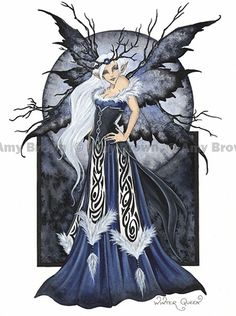 'Winter Queen' Print by Amy Brown - $11.99 - A gorgeous winter fairy to add some chilly magic to your home decor!