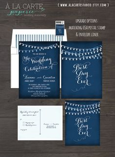 Welcome to A la Carte Paperie! This listing is for a ONE-TIME DESIGN FEE to start the process of personalizing your own custom wedding stationery