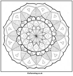 A hand-drawn mandala colouring picture for you to print - enjoy! Mandala Coloring, Colouring Pages, Coloring Books, Coloring Pictures For Kids, Drawing Sketches, Drawings, Adult Coloring, Imagination, Free Printables