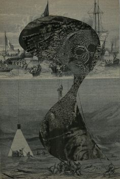 Juxtapoz Magazine - Collage Works by Max Bucaille Gouache, Creatures 3, Max Ernst, Surreal Art, Collages, Brain, It Works, Artsy, Black And White