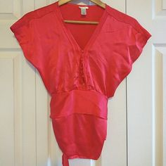 Silky blouse A blouse to make you stand out! Bright and silky. Zipper on the side. Old Navy Tops Blouses