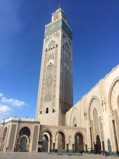 The Hassan II Mosque ,Casablanca, Morocco. It is the largest mosque in Morocco and the 13th largest in the world.